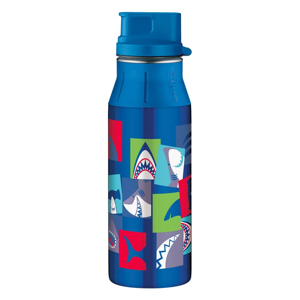 Alfi elementBottle II Shark, Drinking Flask Flask with Screw Cap Stainless Steel