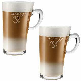 senseo latte macchiato glass cup 260 ml pack of 2 at about shop. Black Bedroom Furniture Sets. Home Design Ideas