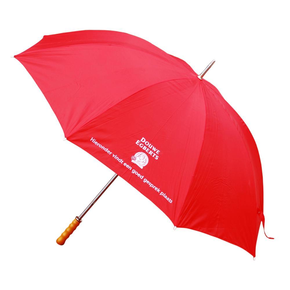 Douwe Egberts Regenschirm mit Holzgriff Regen Schirm Sonnenschirm Regenschutz