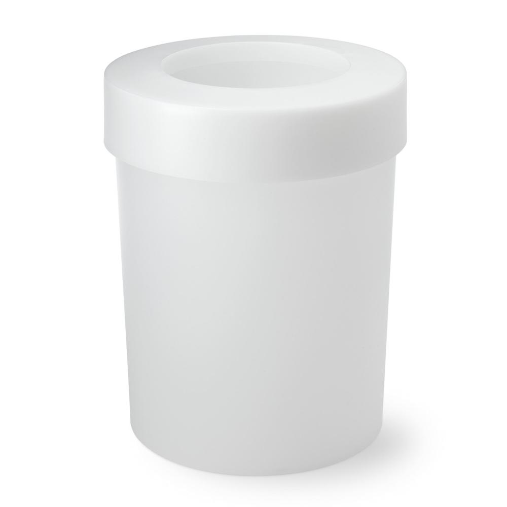 Authentics Midi Cap, Recycle Bin Trash Can Garbage Can White Translucent Plastic