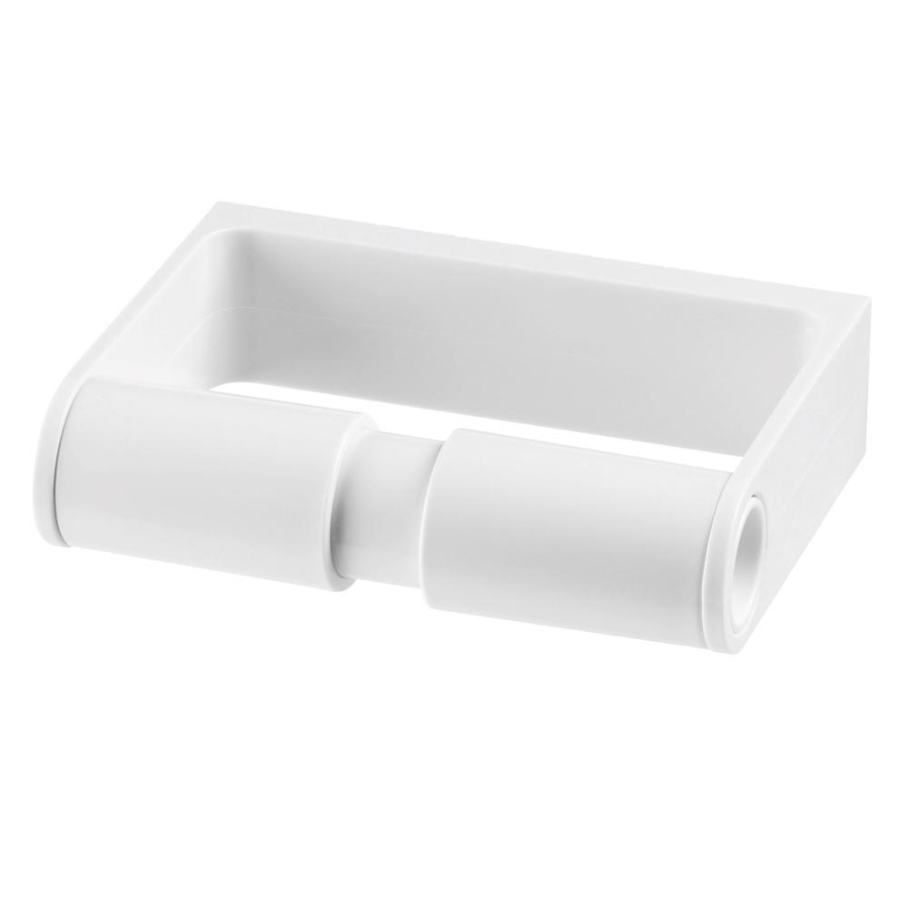 Authentics Lunar Toilet Paper Holder, Toilet Roll Holder, White, Plastic 1200998