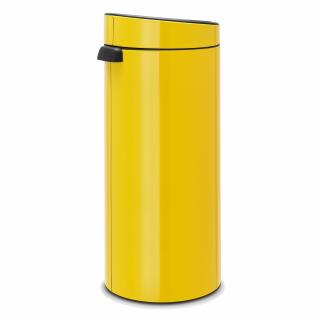 Brabantia 30 Liter Touch Bin.Brabantia Touch Bin Trash Can Wastebasket Dustbin In Daisy Yellow 30 L 115240 At About Tea De Shop