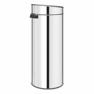 Brabantia Prullenbak 30 Liter.Brabantia Touch Bin Trash Can Wastebasket Dustbin In Brilliant Steel 30 L 115325 At About Tea De Shop