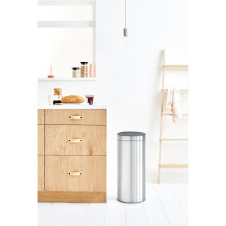 Brabantia Touch Bin 30 Liter Mat.Brabantia Touch Bin Trash Can Wastebasket Dustbin In Matt Steel 30 L 115349 At About Tea De Shop