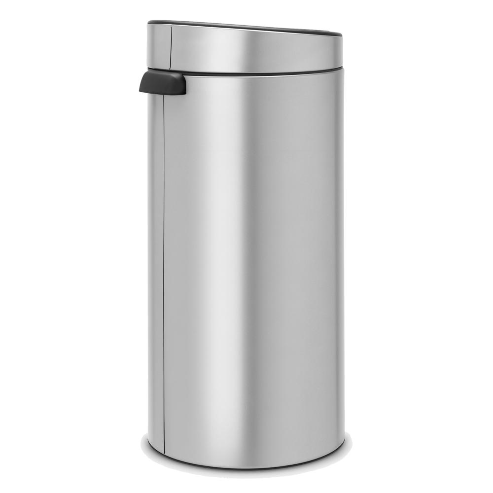 Touch Bin 30 Liter.Brabantia Touch Bin 30 Litre Metallic Grey
