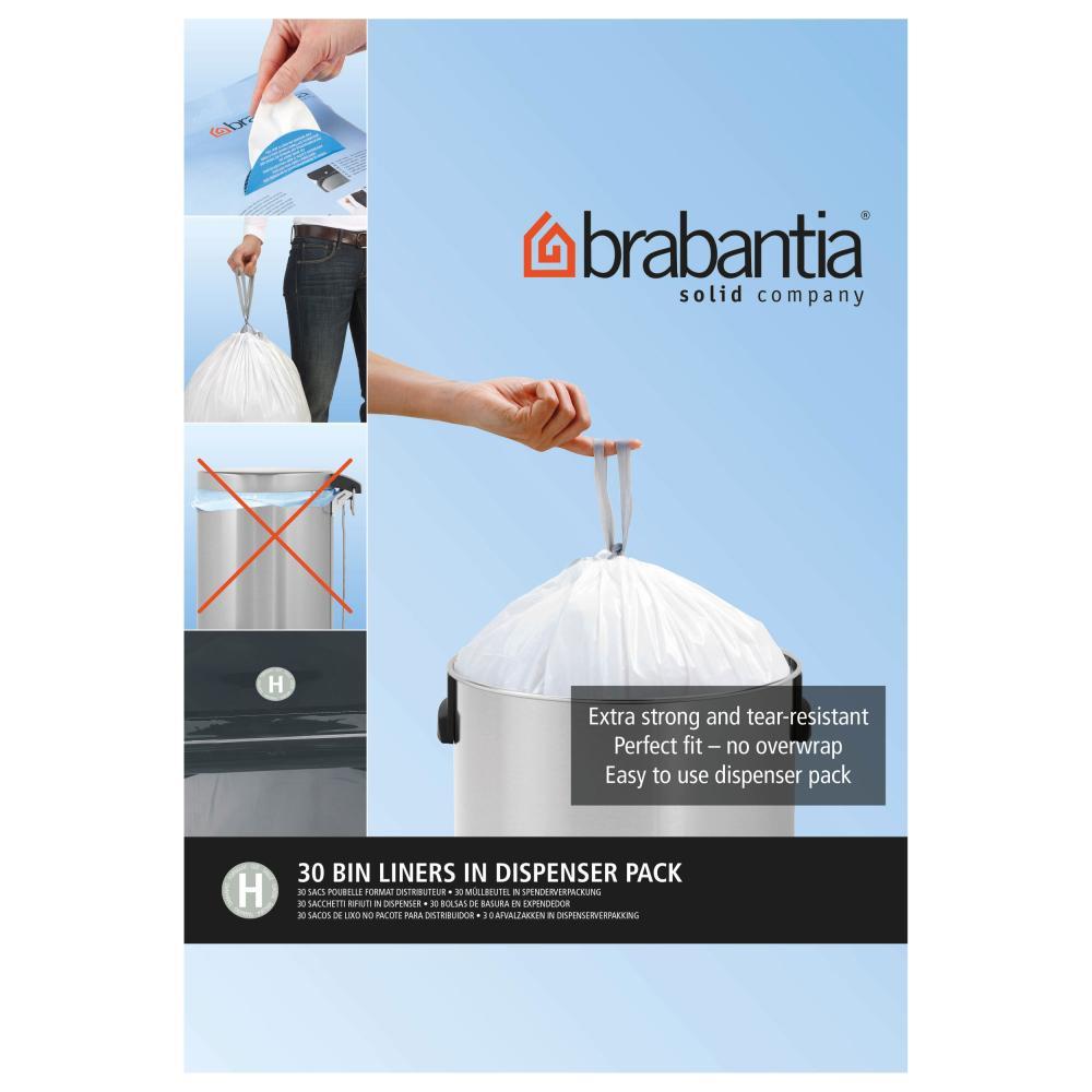 Brabantia Dispenser Pack of Bin Liners, Size H, 50-60 Litre,