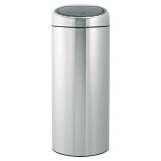 Brabantia Touch Bin 30 Liter Mat.Brabantia Touch Bin With Removable Plastic Inner Bucket Matt Steel Fingerprint Proof 30 Litre 378669 At About Tea De Shop