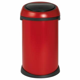 Brabantia Touch Bin 50 Liter Wit.Brabantia Touch Bin Deep Red With Black Lid 50 Litre 395543 At About Tea De Shop