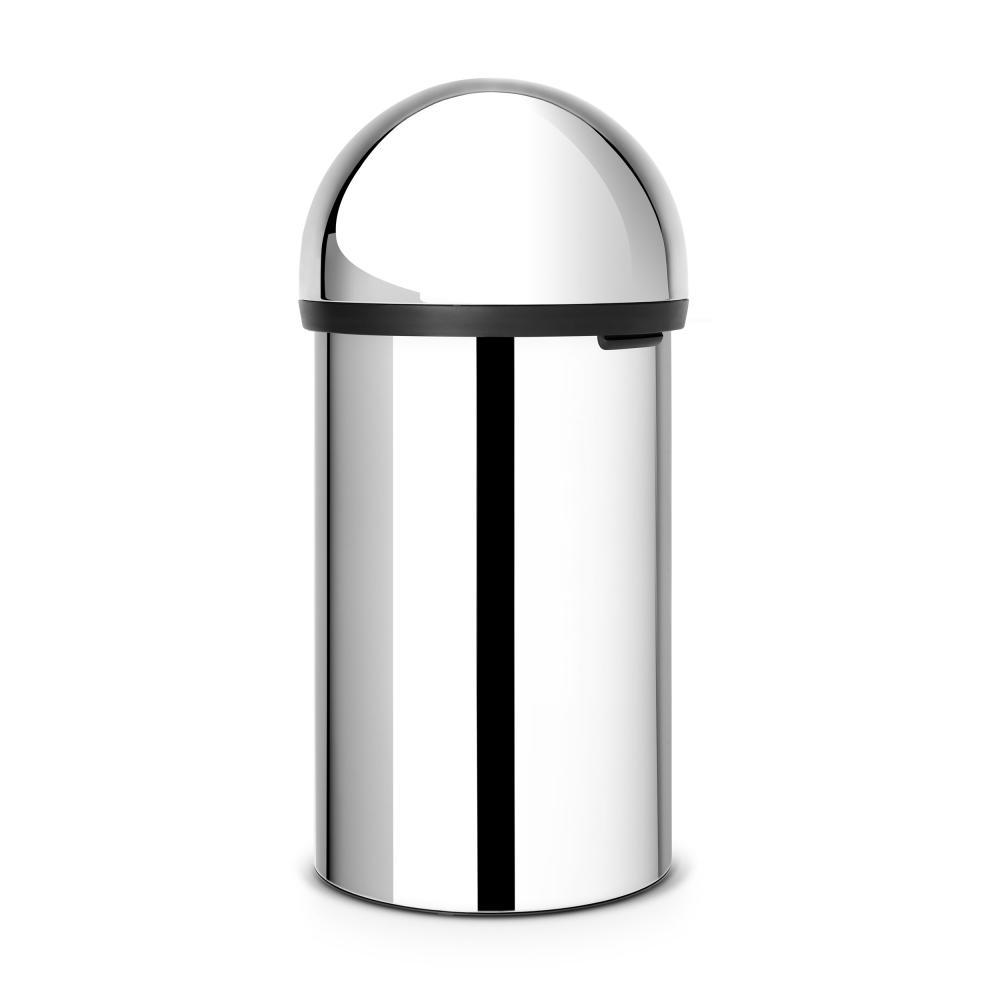 BRABANTIA-PUSH-BIN-Poubelle-Poubelle-Corbeille-Brilliant-Steel-60-L