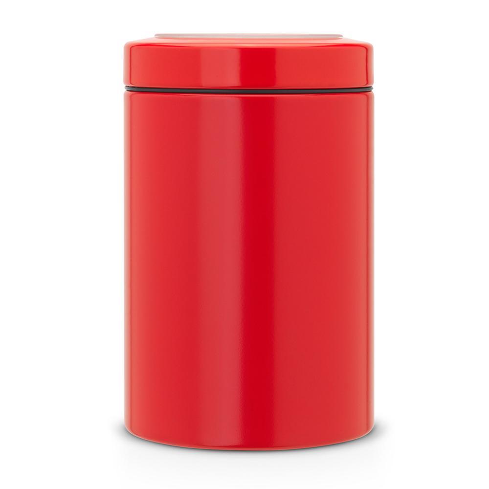 Feu Rouge Brabantia Vorratsdose Réservoir 1.4 L Boîte Avec Fenêtre Couvercle