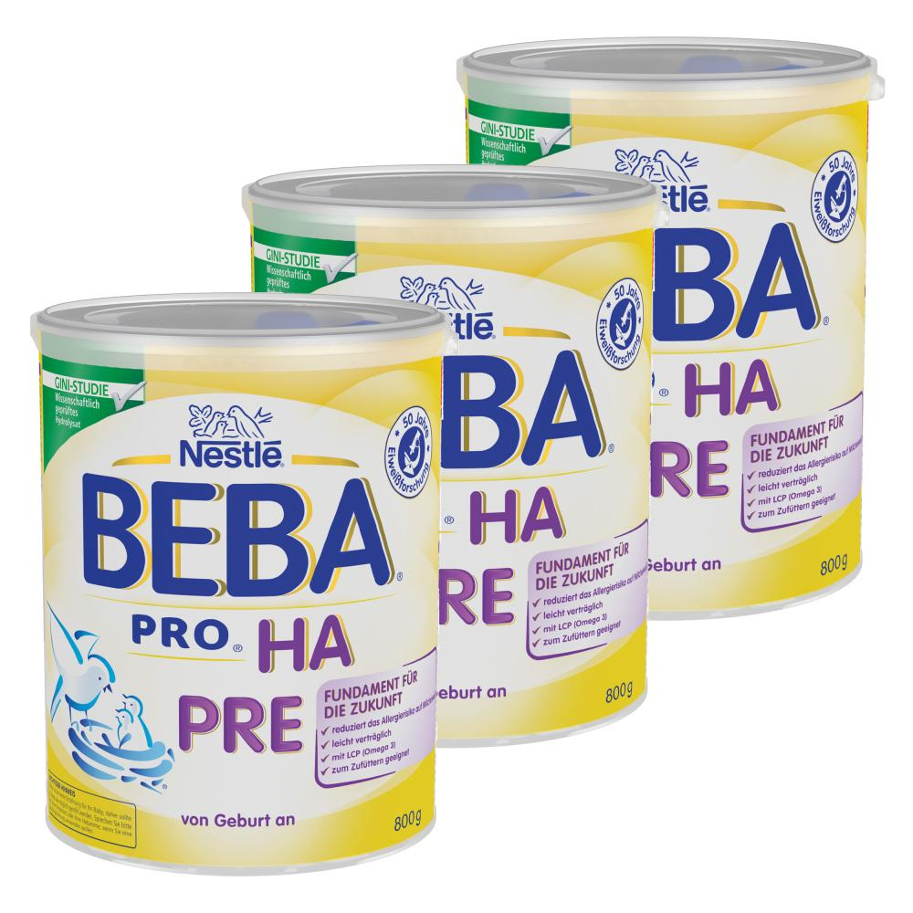 Nestlé BEBA PRO HA Pre Kindermilch Babynahrung Anfangsnahrung von Geburt an 2400