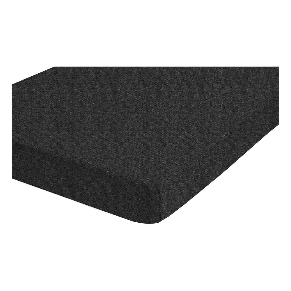Biberna Melange-uni Spannbetttuch Spannbettlaken Titanium 140-160 X 200 Cm Bettwaren, -wäsche & Matratzen Bettwäsche