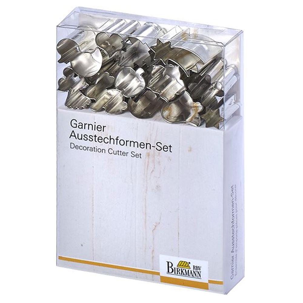 Keks Weißblech Birkmann AWB Garnier-Ausstechformen-Set Celebration Mini 12-tlg