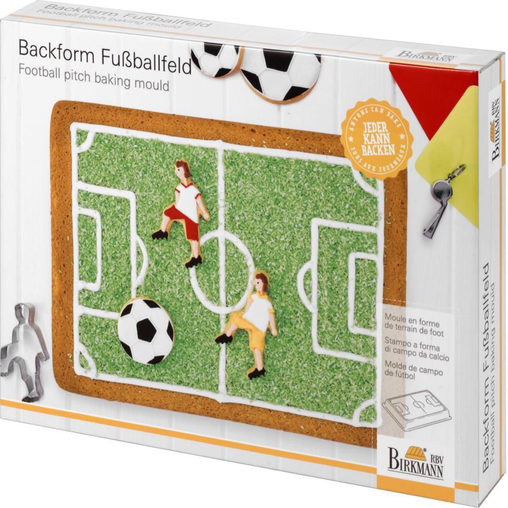 KüHn Birkmann Motivbackform Fußballfeld Back Blech Back Form Backzubehör Stahl 30 Cm Backzubehör & Kuchendekoration Kochen & Genießen