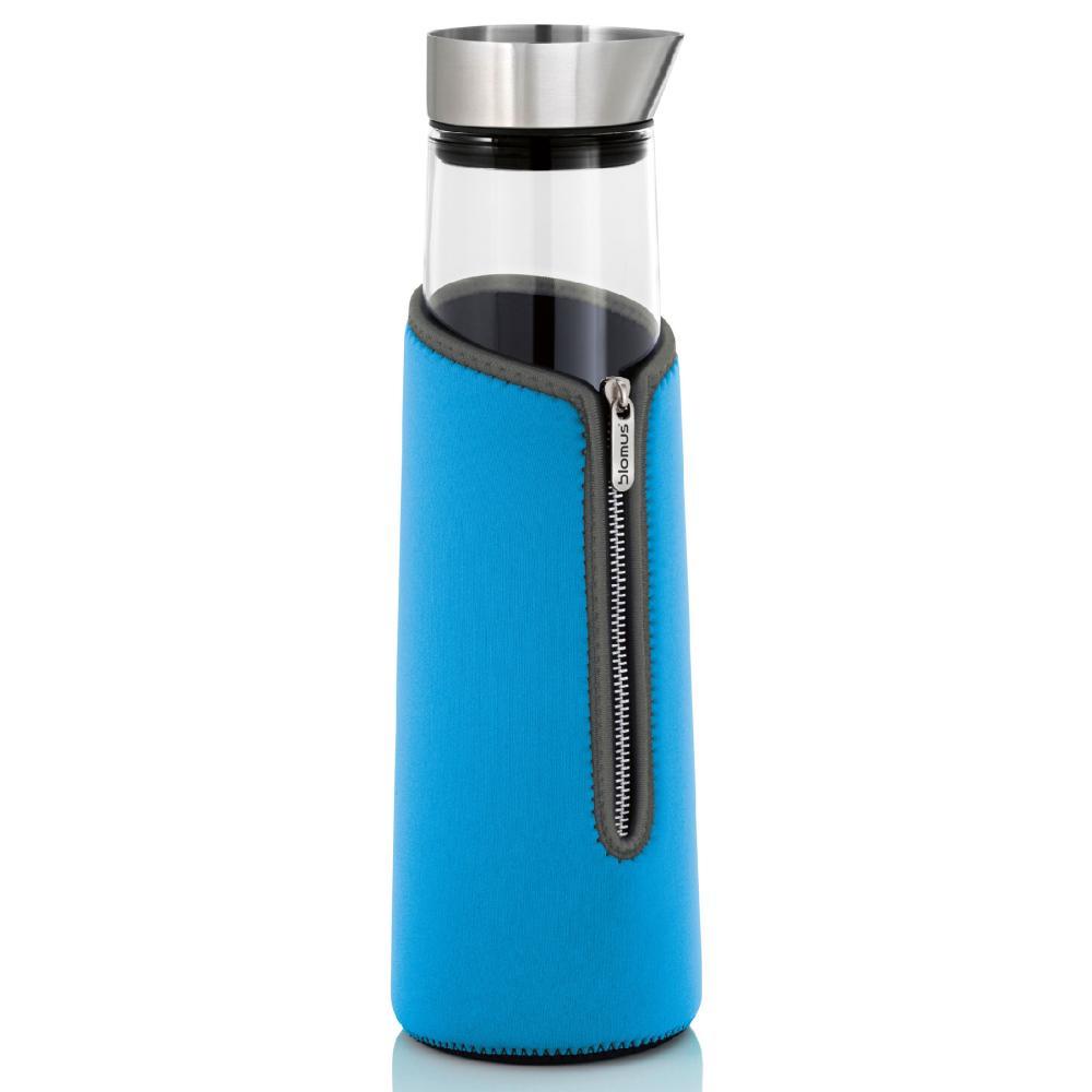 Blomus-Isoliermanschette-Acqua-fuer-1-5-Liter-Wasserkaraffe-Neopren-blau-63504