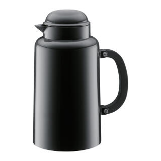 Bodum Chambord Thermos Jug, Insulating Jug, Vacuum Flask, Stainless Steel,  Black, 1 L, 10886-01TL