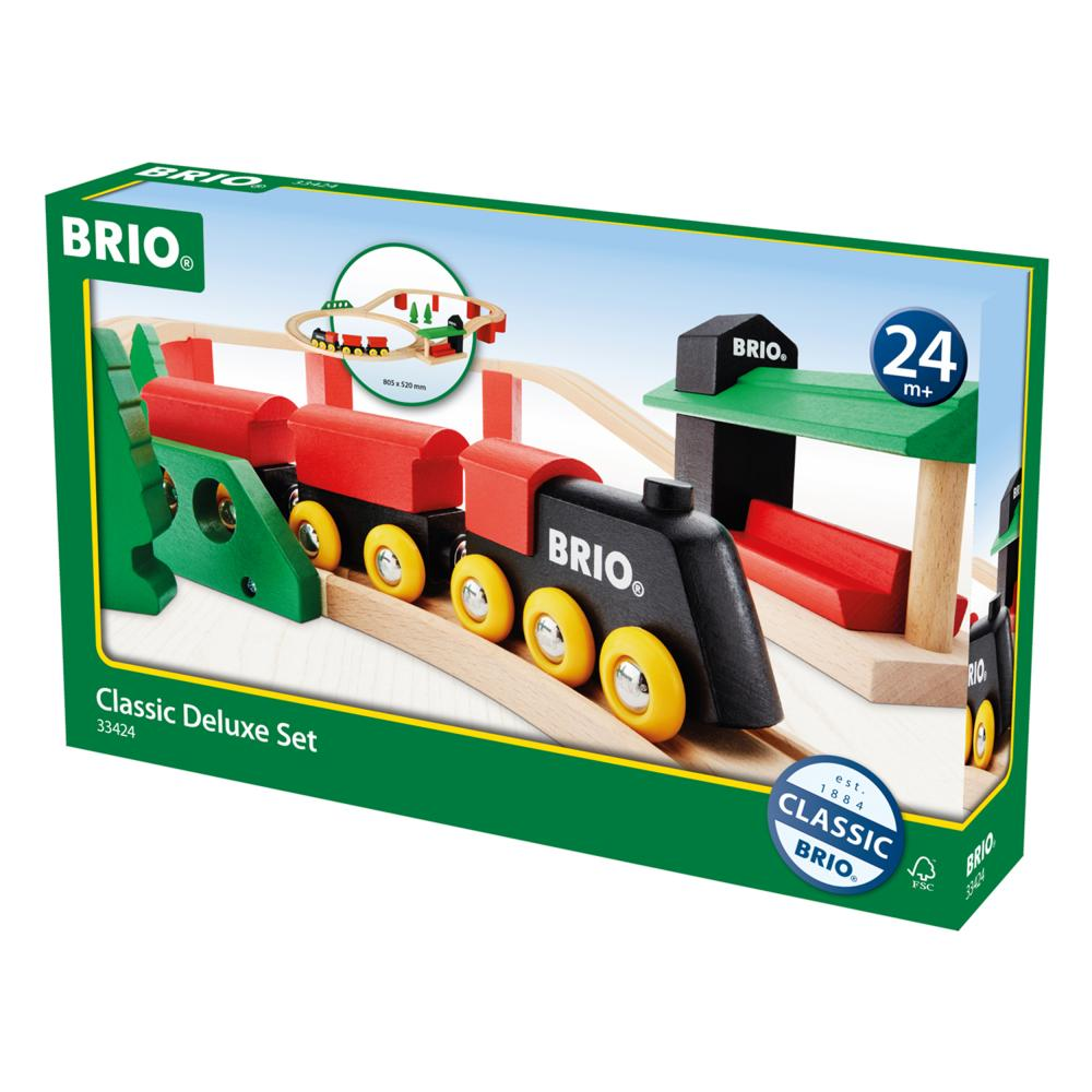 BRIO Classic Deluxe-Set Holzeisenbahn Eisenbahn Holzspielzeug Holz Holz Holz Spielzeug 00ecb8
