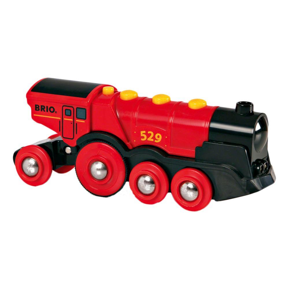BRIO Rote Lola Batterielok Holzeisenbahn Eisenbahn Holzspielzeug Holz Spielzeug