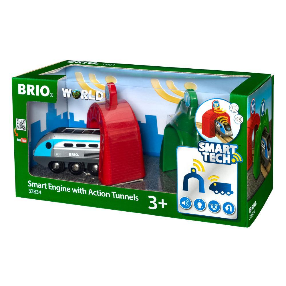 BRIO Smart Tech Zug mit Actiontunnel Holzeisenbahn Eisenbahn Holzspielzeug Holz