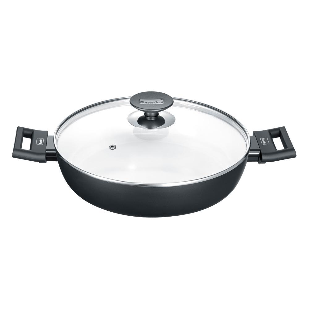 Berndes Alu induction Smart schmorkasserolle servierpfanne con tapa de Ø 28 cm