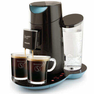 Philips Senseo Twist Hd787060 Coffee Pod Machine Misty Dawn Black 2 Senseo Design Glass Cups At About Teade Shop