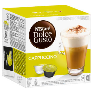 nescaf dolce gusto cappuccino 16 capsules 8 servings at about shop. Black Bedroom Furniture Sets. Home Design Ideas