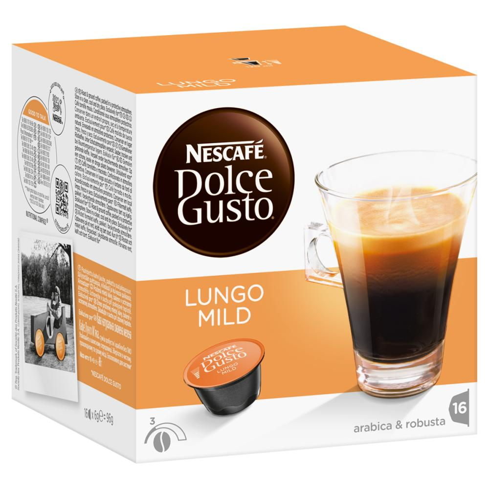 Nescafe-DOLCE-GUSTO-Caffe-Lungo-Mild-Kaffee-KaffeeKAPSEL-6-x-16-KAPSELN miniatuur 3
