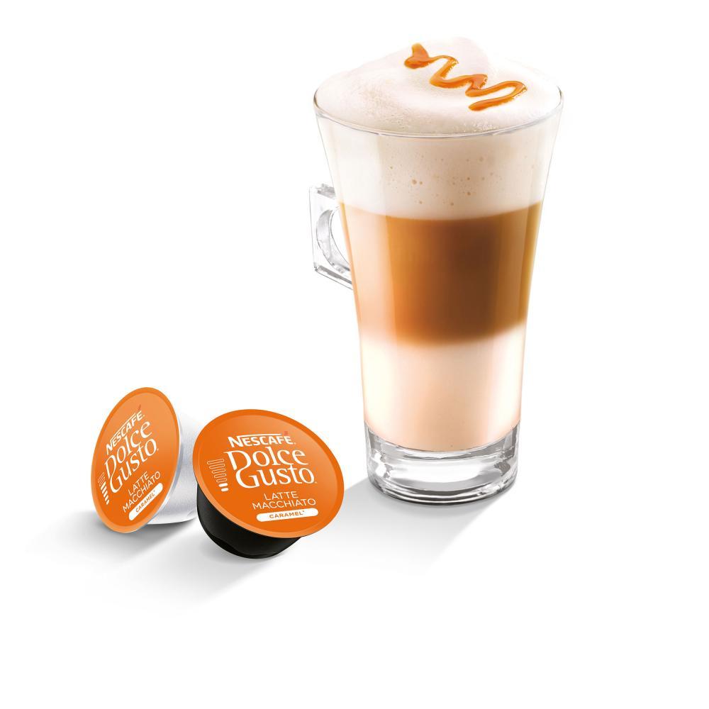 Nescafe-DOLCE-GUSTO-Caramel-Latte-Macchiato-Karamell-Kaffee-3-x-16-KAPSELN Indexbild 5