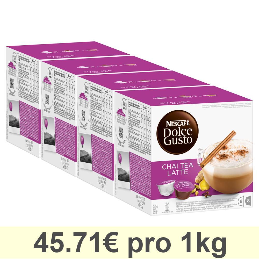 Nescafé DOLCE GUSTO Chai Tea Latte Tee, 4er Pack, 4 x 16 KAPSELN (32 Portionen)