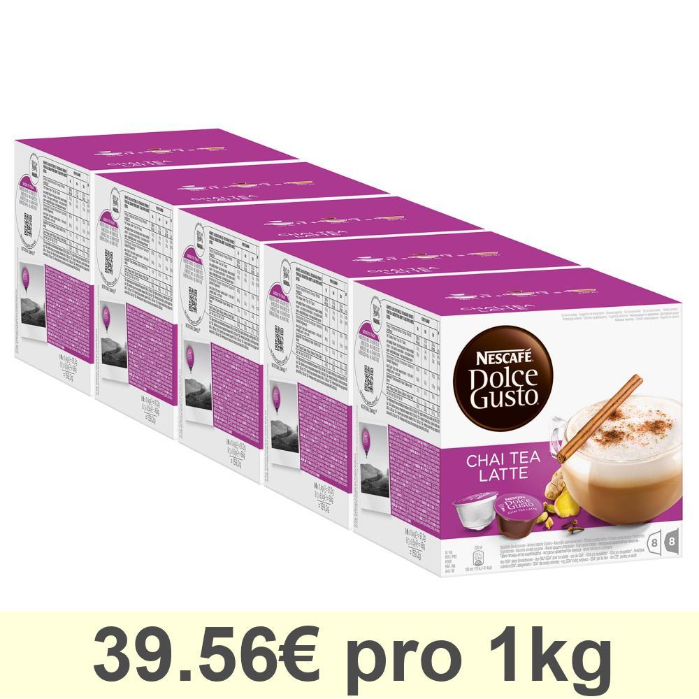 Nescafé DOLCE GUSTO Chai Tea Latte Tee, 5er Pack, 5 x 16 KAPSELN (40 Portionen)