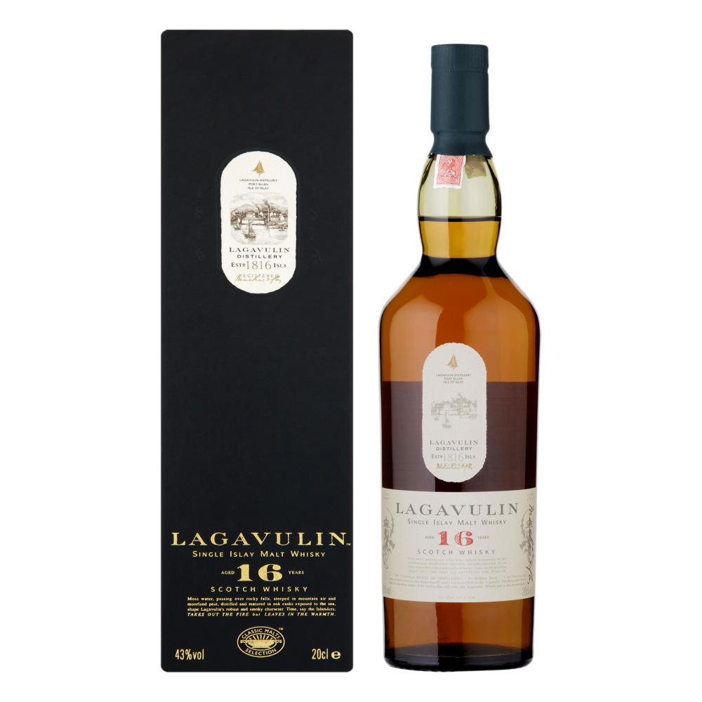 Lagavulin 16 Years Jahre Single Malt Whisky Scotch Alkohol Flasche 43% 200 ml