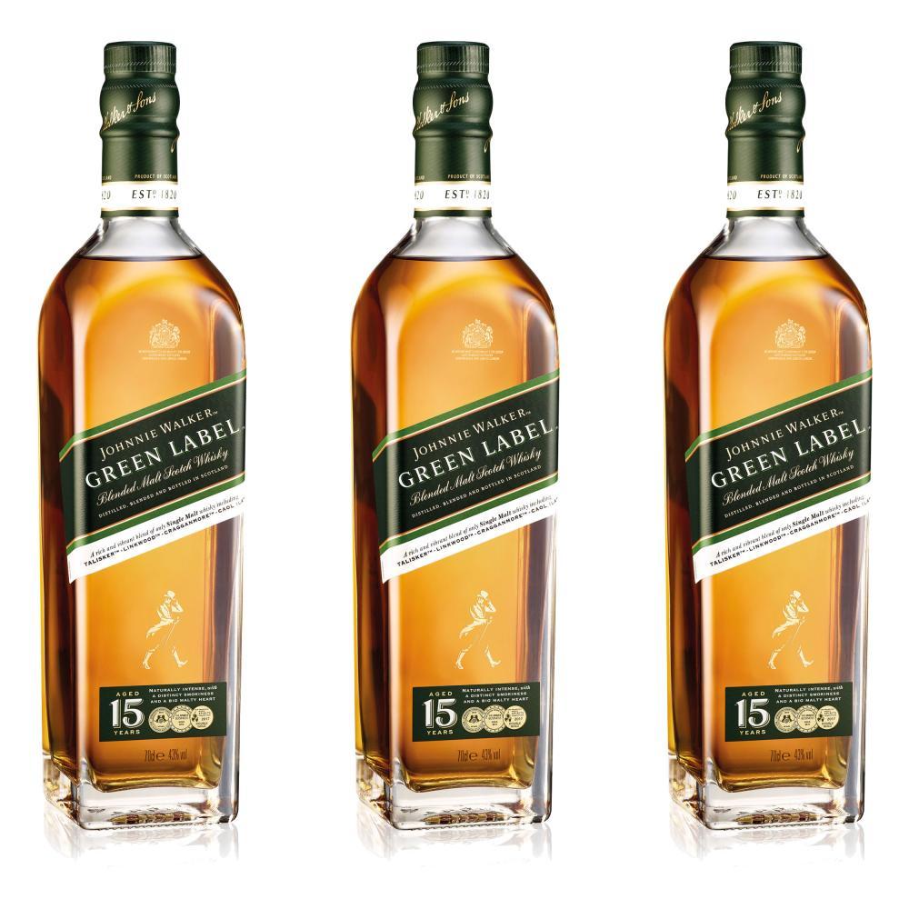 Johnnie-Walker-Green-Label-Blended-Whisky-15-Jahre-Scotch-3er-Alkohol-43-700-ml