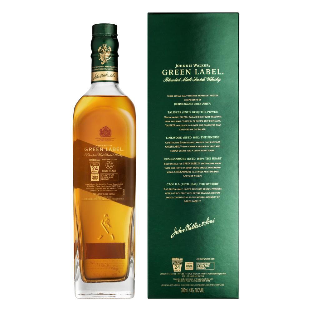 Johnnie-Walker-Green-Label-Blended-Whisky-15-Jahre-Scotch-3er-Alkohol-43-700-ml Indexbild 4