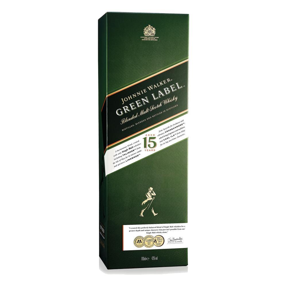 Johnnie-Walker-Green-Label-Blended-Whisky-15-Jahre-Scotch-3er-Alkohol-43-700-ml Indexbild 5