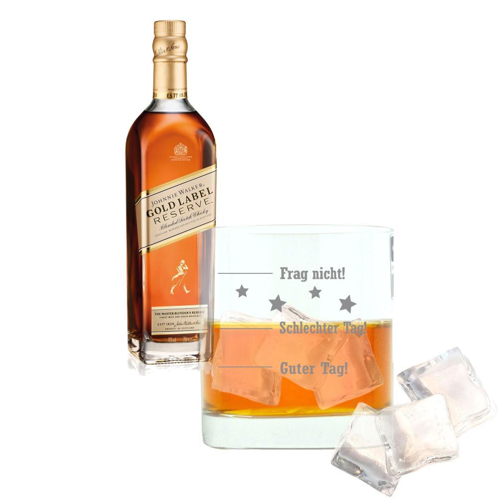 Vatertags-Set-Johnnie-Walker-Gold-Label-Reserve-Blended-Whisky-Scotch-40-Glas