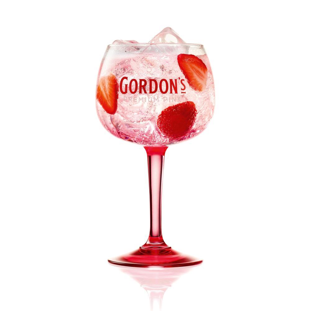 Indexbild 4 - Gordons Premium Pink Distilled Gin Set mit 2 Gläsern Alkohol Flasche 37.5% 700ml