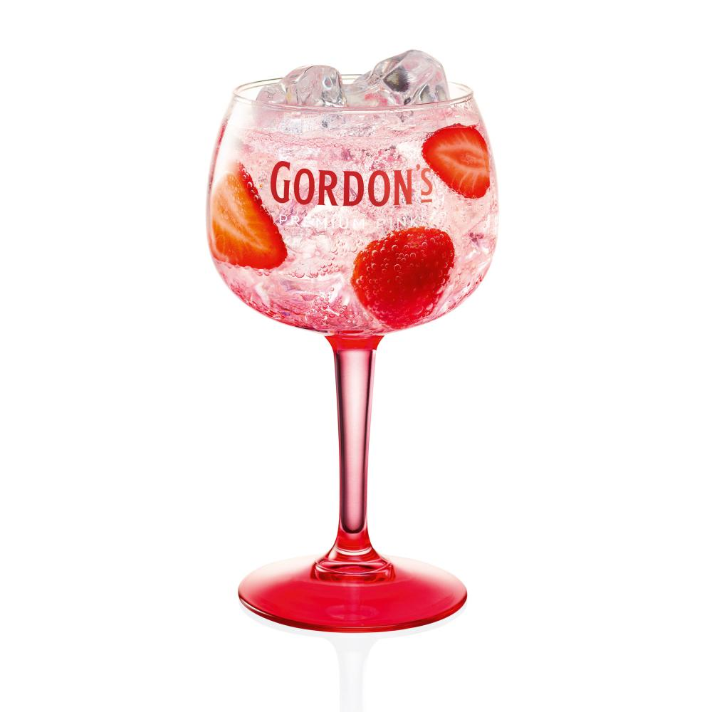 Indexbild 5 - Gordons Premium Pink Distilled Gin Set mit 2 Gläsern Alkohol Flasche 37.5% 700ml