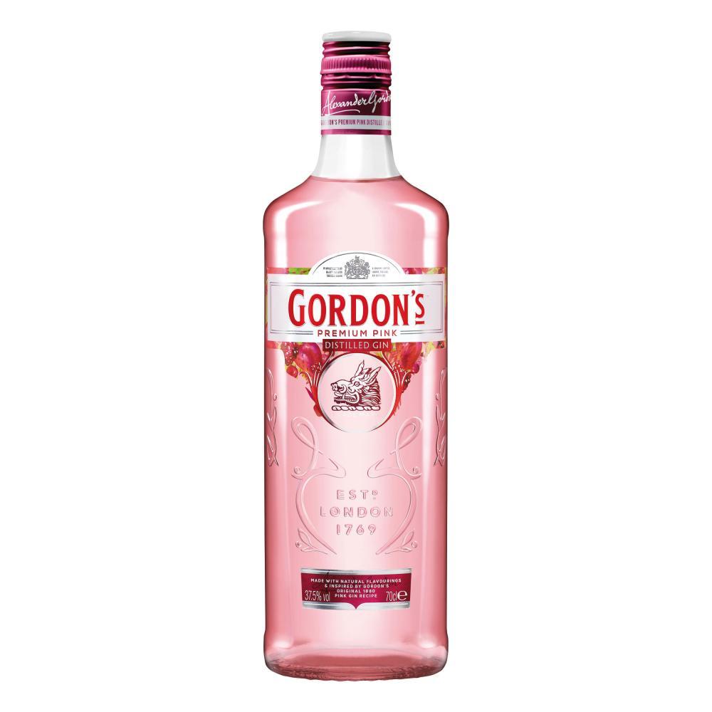 Indexbild 6 - Gordons Premium Pink Distilled Gin Set mit 2 Gläsern Alkohol Flasche 37.5% 700ml