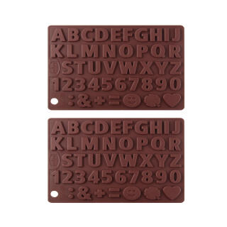 Dr Oetker Silicone Chocolate Forms 2PCs Set Letter And Number Template 43 Motive Kitchen Help Decoration Confectionery 2109