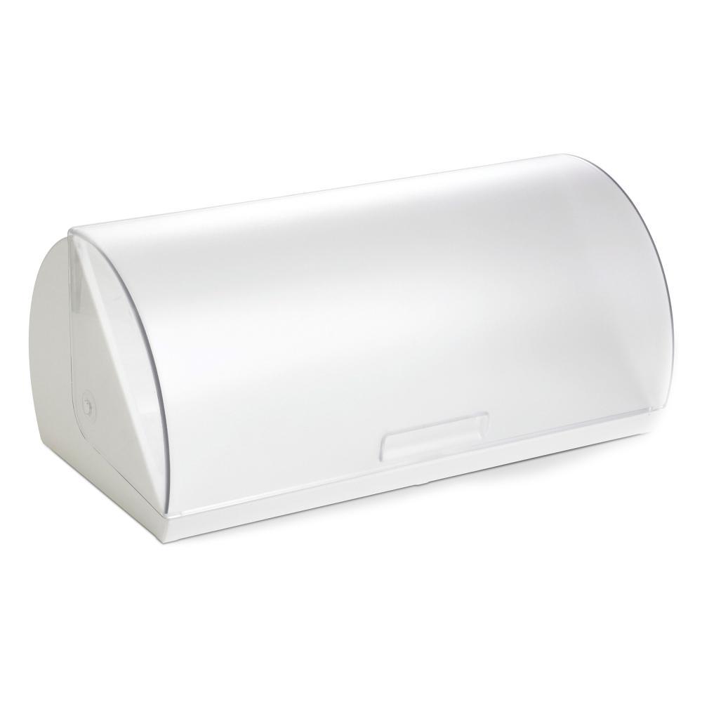 Emsa Superline Cesta del Pane con Apertura Avvolgibile 40 cm, Bianco Scatola Box