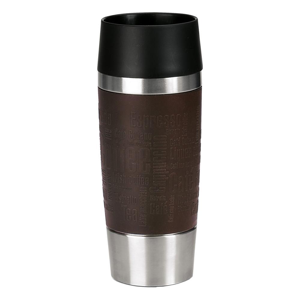 Emsa Travel Mug Vacuum Jug, 0.36 L Stainless Steel Coffee Tea Jug, Vacuum Flask