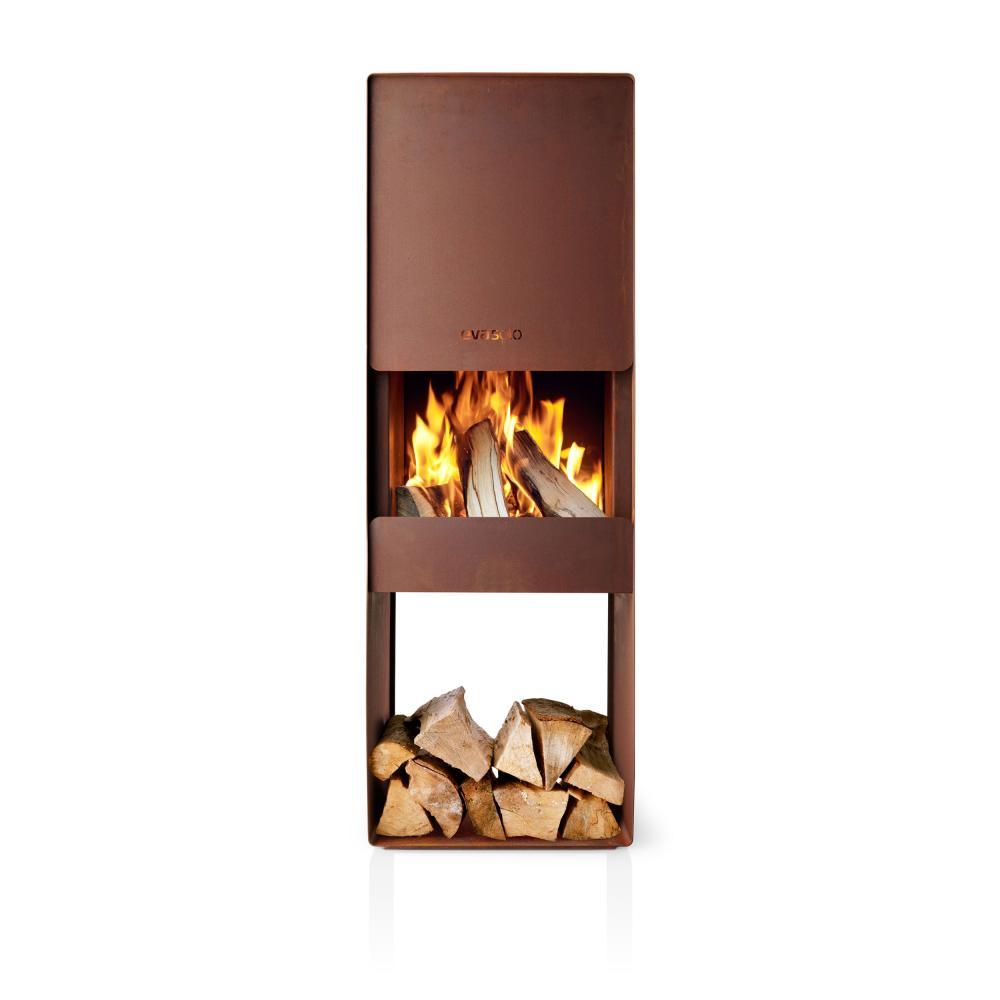 Indexbild 2 - Eva Solo Firebox Gartenkamin, Feuerstelle, Outdoor Kamin, Cortenstahl, H 125 cm