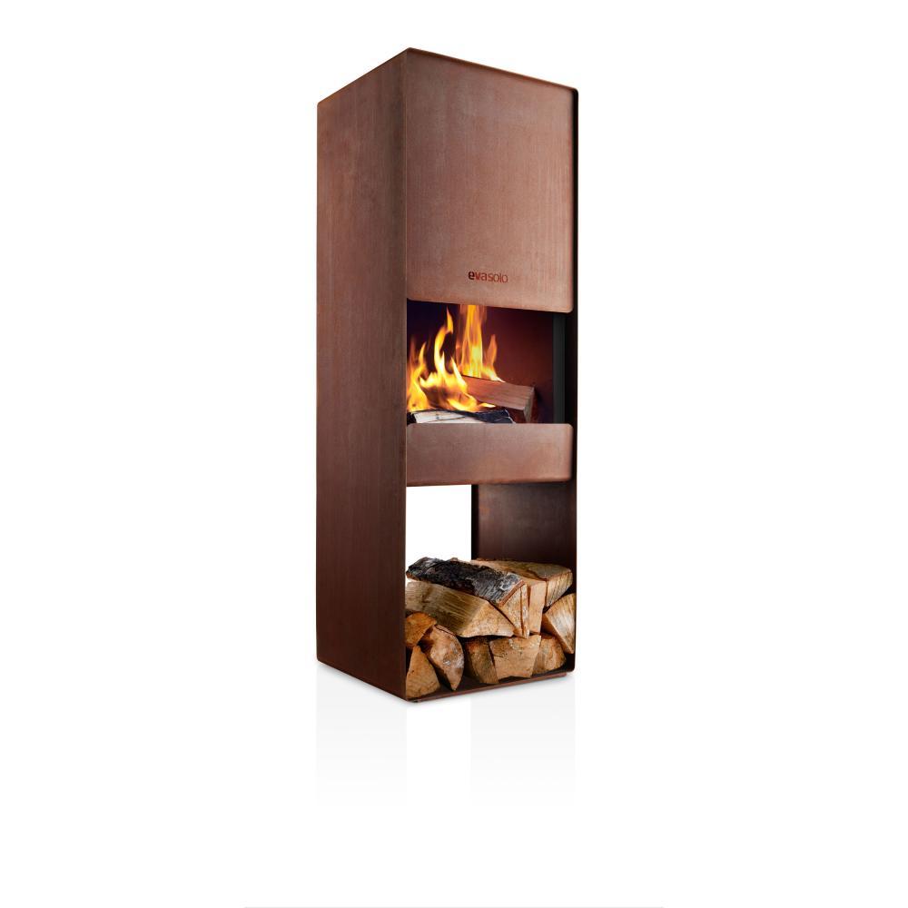 Indexbild 5 - Eva Solo Firebox Gartenkamin, Feuerstelle, Outdoor Kamin, Cortenstahl, H 125 cm