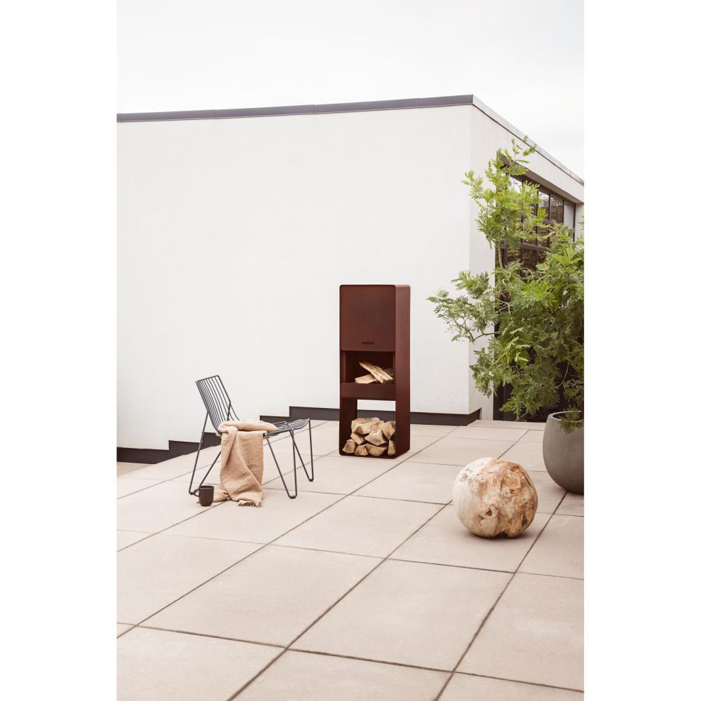 Indexbild 7 - Eva Solo Firebox Gartenkamin, Feuerstelle, Outdoor Kamin, Cortenstahl, H 125 cm