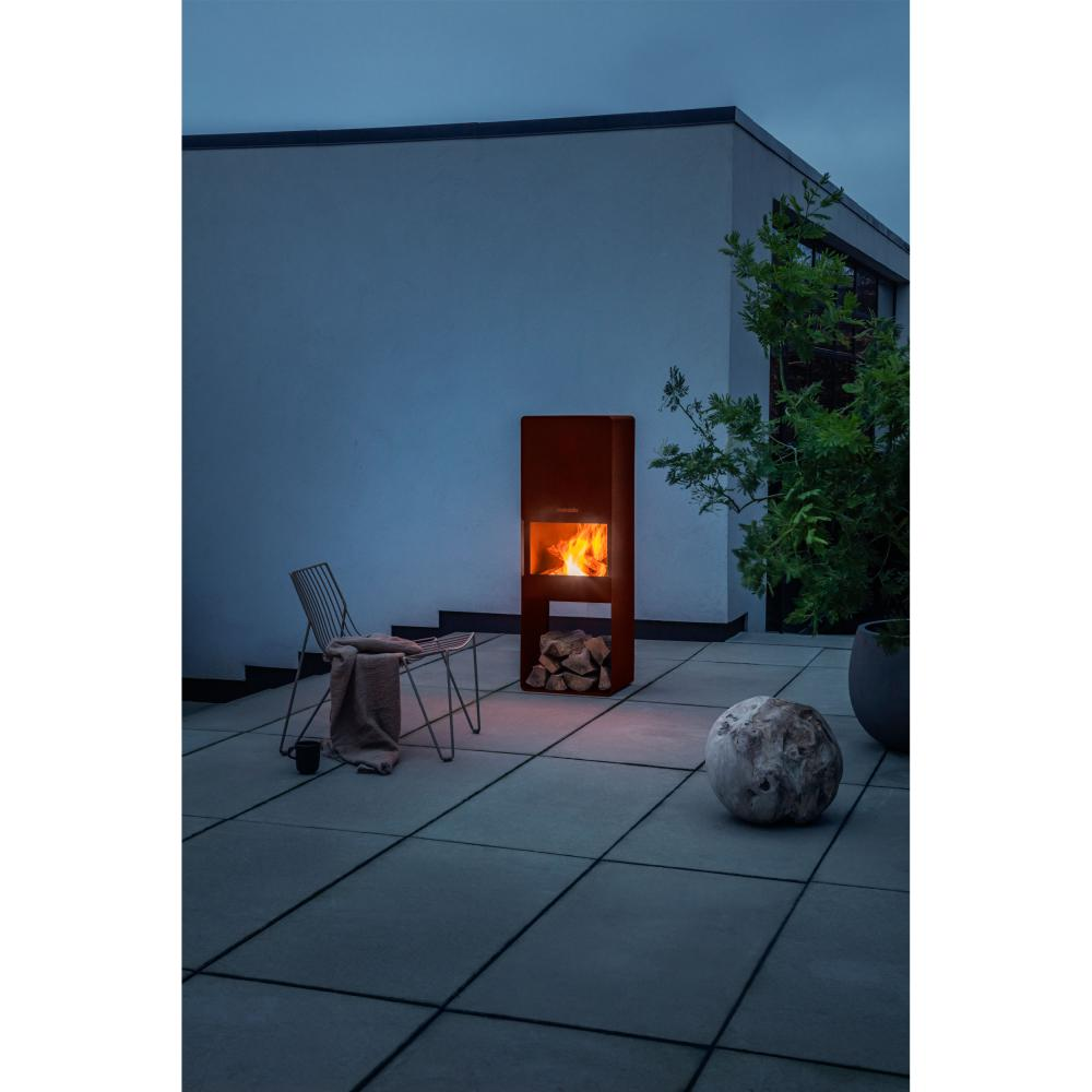 Indexbild 8 - Eva Solo Firebox Gartenkamin, Feuerstelle, Outdoor Kamin, Cortenstahl, H 125 cm