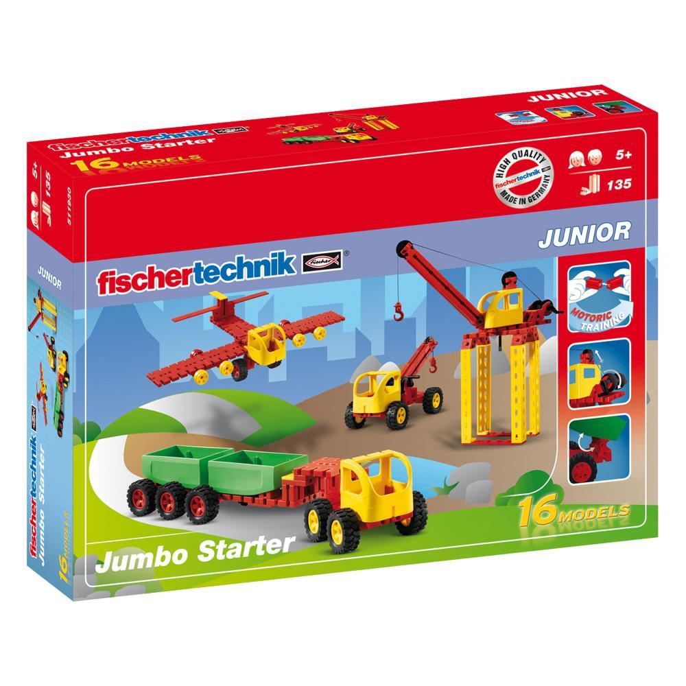 Fischertechnik Junior Jumbo Starter 135tlg Einsteiger Baukasten Motorikspielzeug