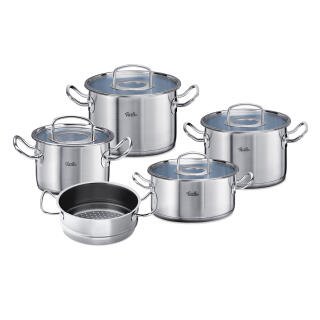 Fissler Original Profi Collection Pot Set With Glass Lid Stewing Pan