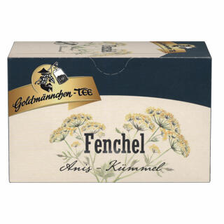 Goldmännchen Tee Fenchel-Anis-Kümmel (Fennel, Anise, Caraway), Herbal Tea,  Original Thuringian Quality, 20 Individually Sealed Tea Bags at