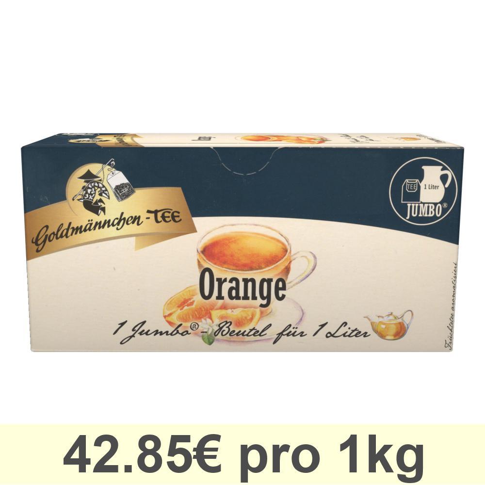Goldmännchen Jumbo Tee Orange, Orangentee, Früchtetee, 20 Teebeutel Große Beutel