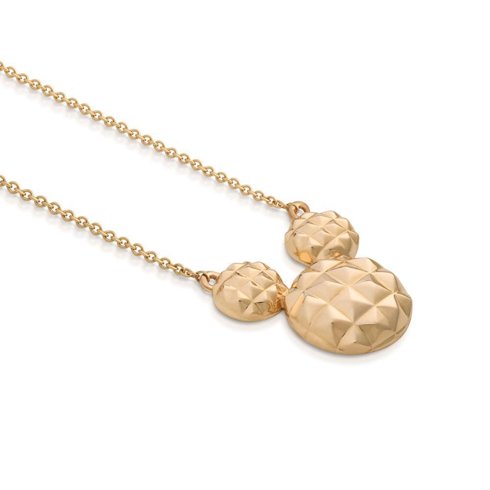 Goebel Couture Kingdom Micky Maus Halskette Diamond Cut Hals Schmuck 9K Gold